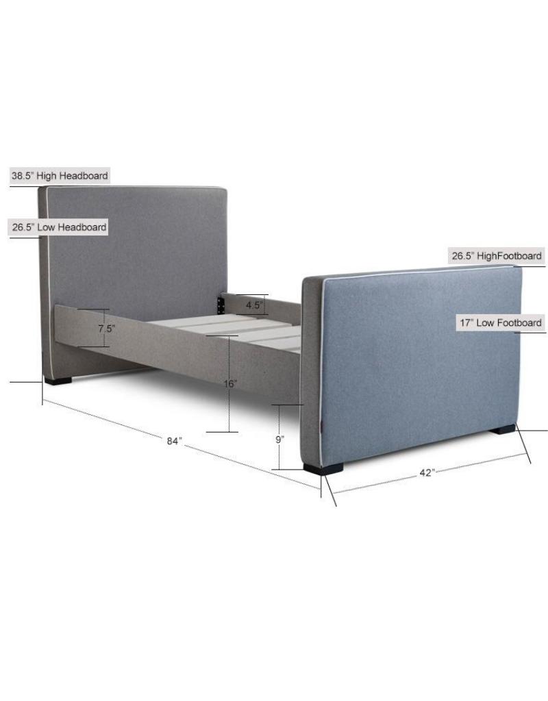Monte Designs Monte Twin Dorma Bed with Espresso Base - Pebble Grey
