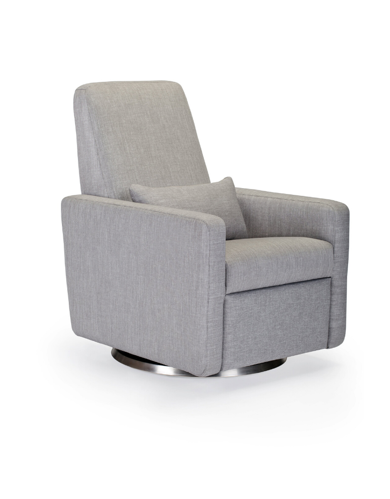 Monte Designs Monte Grano Recliner with Swivel Base - Pebble Grey