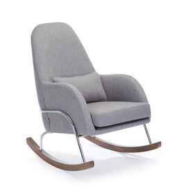 Monte Designs Monte Jackson Rocker with Walnut Base - Pebble Grey