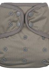 OsoCozy One Size Diaper Cover Pewter
