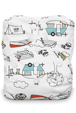 Thirsties Thirsties Stay Dry Natural One Size AIO Snap Happy Camper