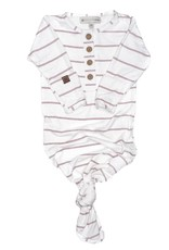 PapillonBebe Knotted Gown Stripes 0-3mo