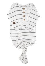 PapillonBebe Papillon Bebe Knotted Gown Stripes 0-3mo