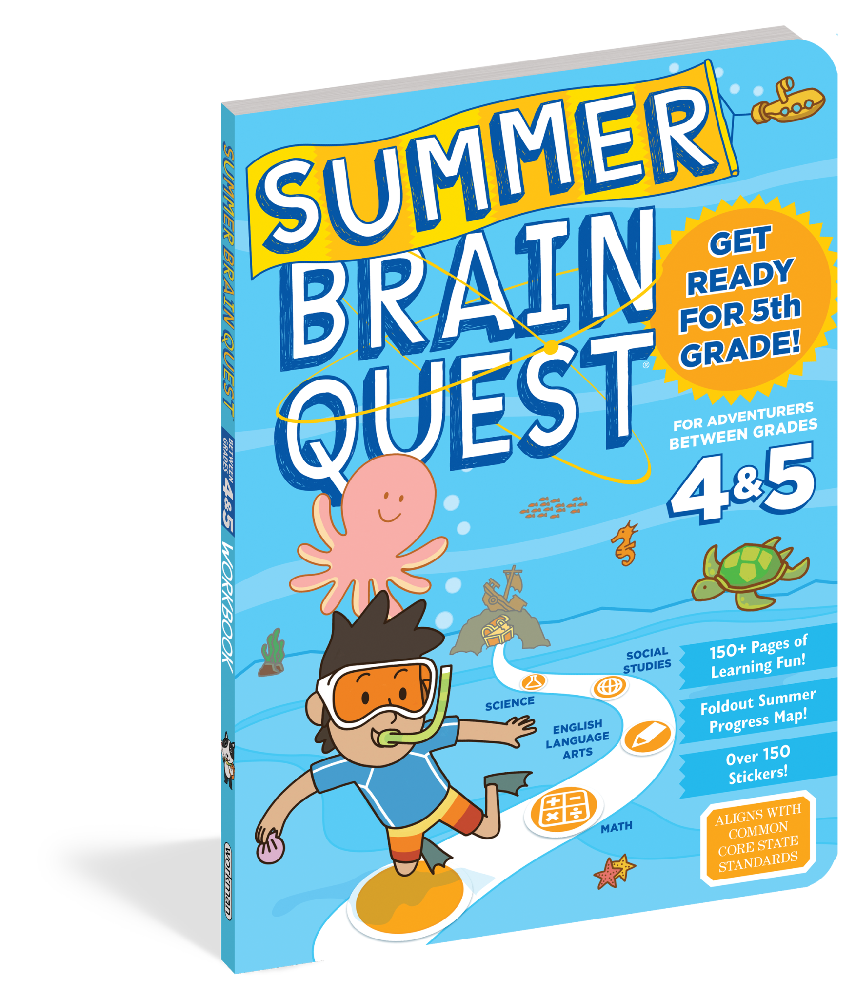 Summer Brain Quest Workbooks by Grade 4th to 5th