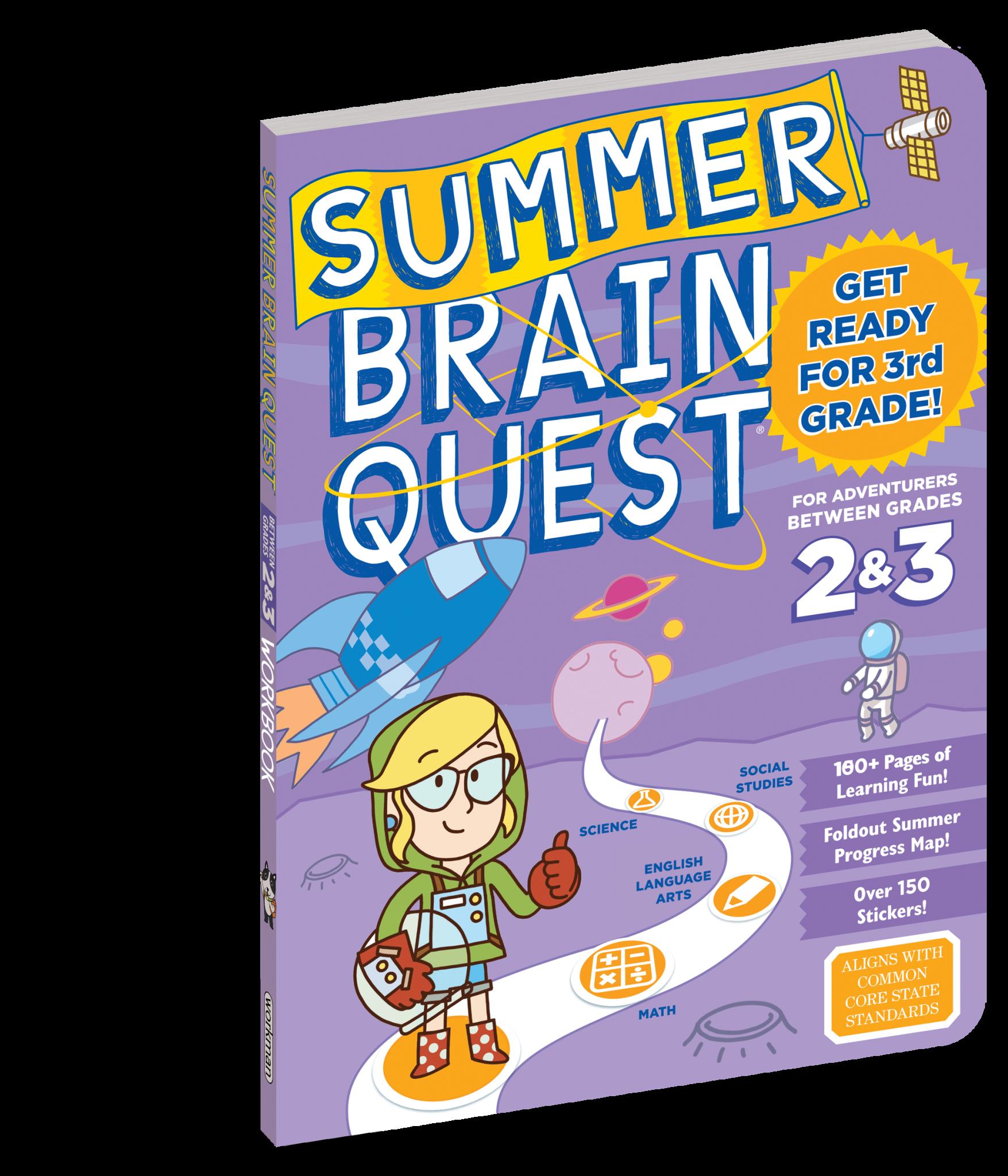 Summer Brain Quest Workbooks by Grade 2nd to 3rd