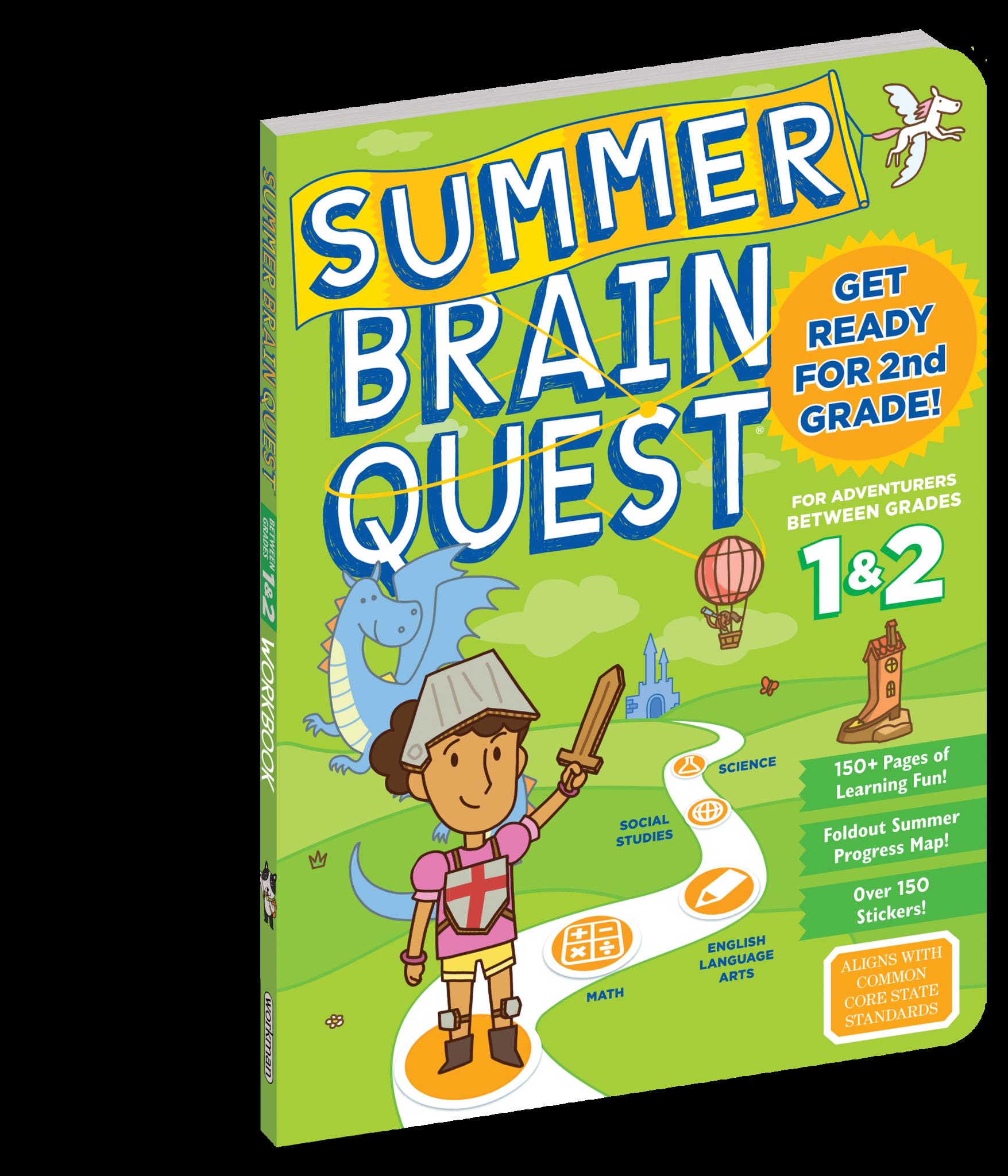Summer Brain Quest Workbooks by Grade 1st to 2nd