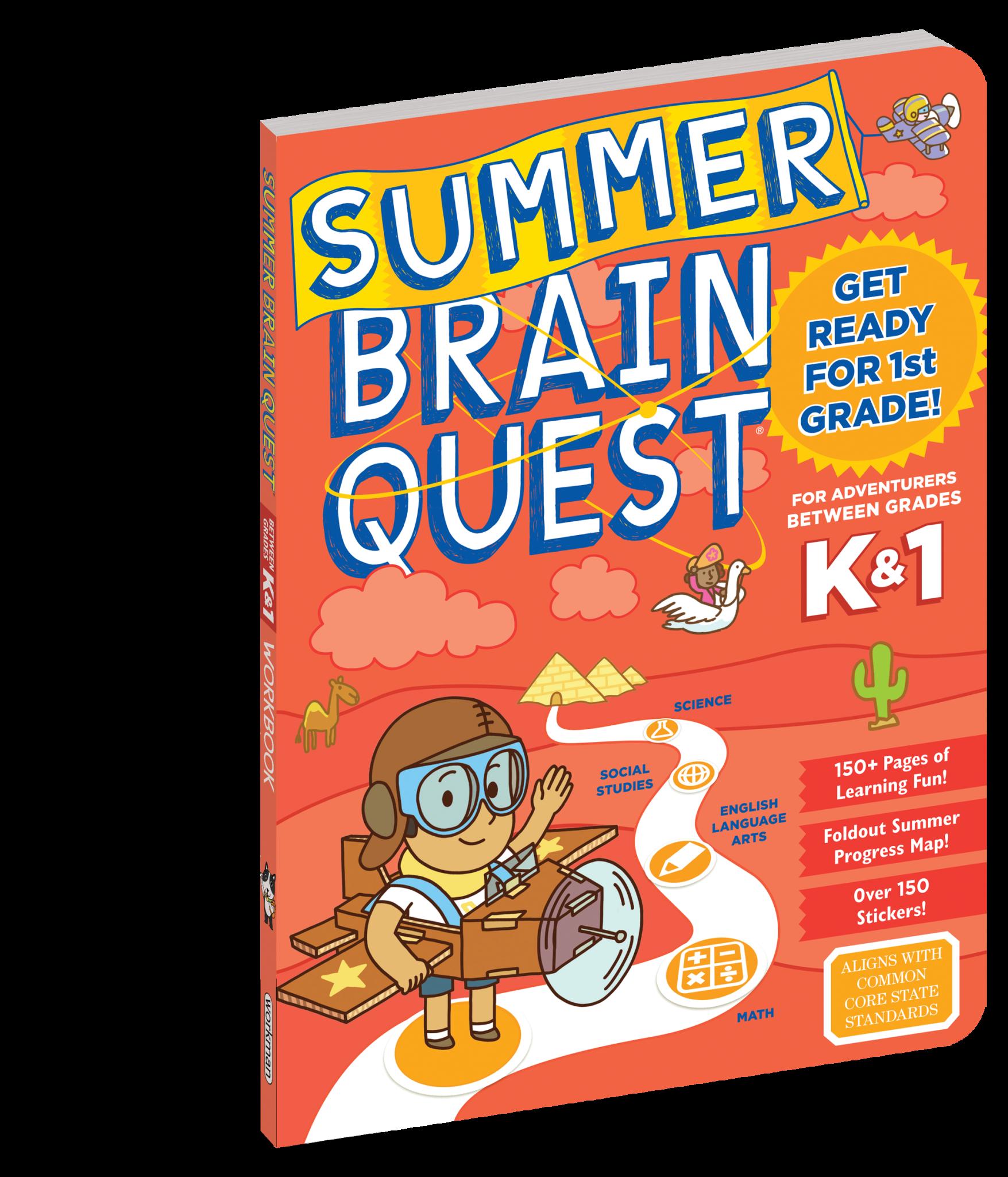 Summer Brain Quest Workbooks by Grade K to 1st