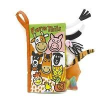 Jellycat Farm Tails Soft Activity Book