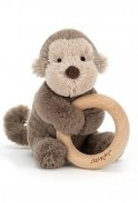 Jellycat Jellycat - Shooshu Bashful Monkey Wooden Ring Toy