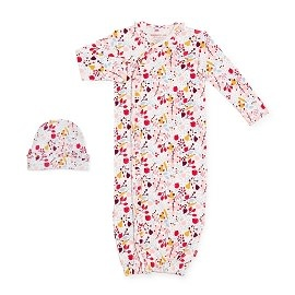 Magnetic Me Magnetic Me Organic Cotton Magnetic Gown & Hat Set