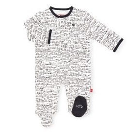 Magnetic Me Magnetic Me - Organic Cotton Footie - Going Places