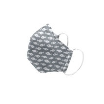 "Green Sprouts Child Reusable Face Mask, Grey Fish, 11""-12"""