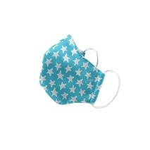 "Green Sprouts Child Reusable Face Mask, Aqua Starfish, 11""-12"""