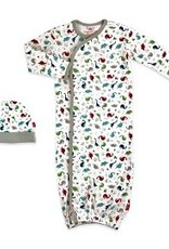 Magnetic Me Magnetic Me Newborn Gown & Hat Organic Cotton - Dino Expedition