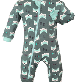 ZippyJamz Zippyjamz Footless - Quiet Fox Green
