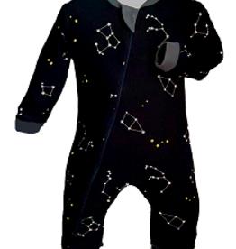ZippyJamz Zippyjamz Footless - Navy Constellation