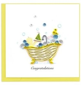 Greeting Card Baby Tub