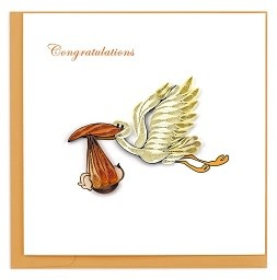 Greeting Card Stork Delivery