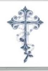 Greeting Card Blue Cross