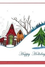Holiday Card Holiday Snowy Village