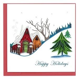Holiday Card Holiday Snowy Village