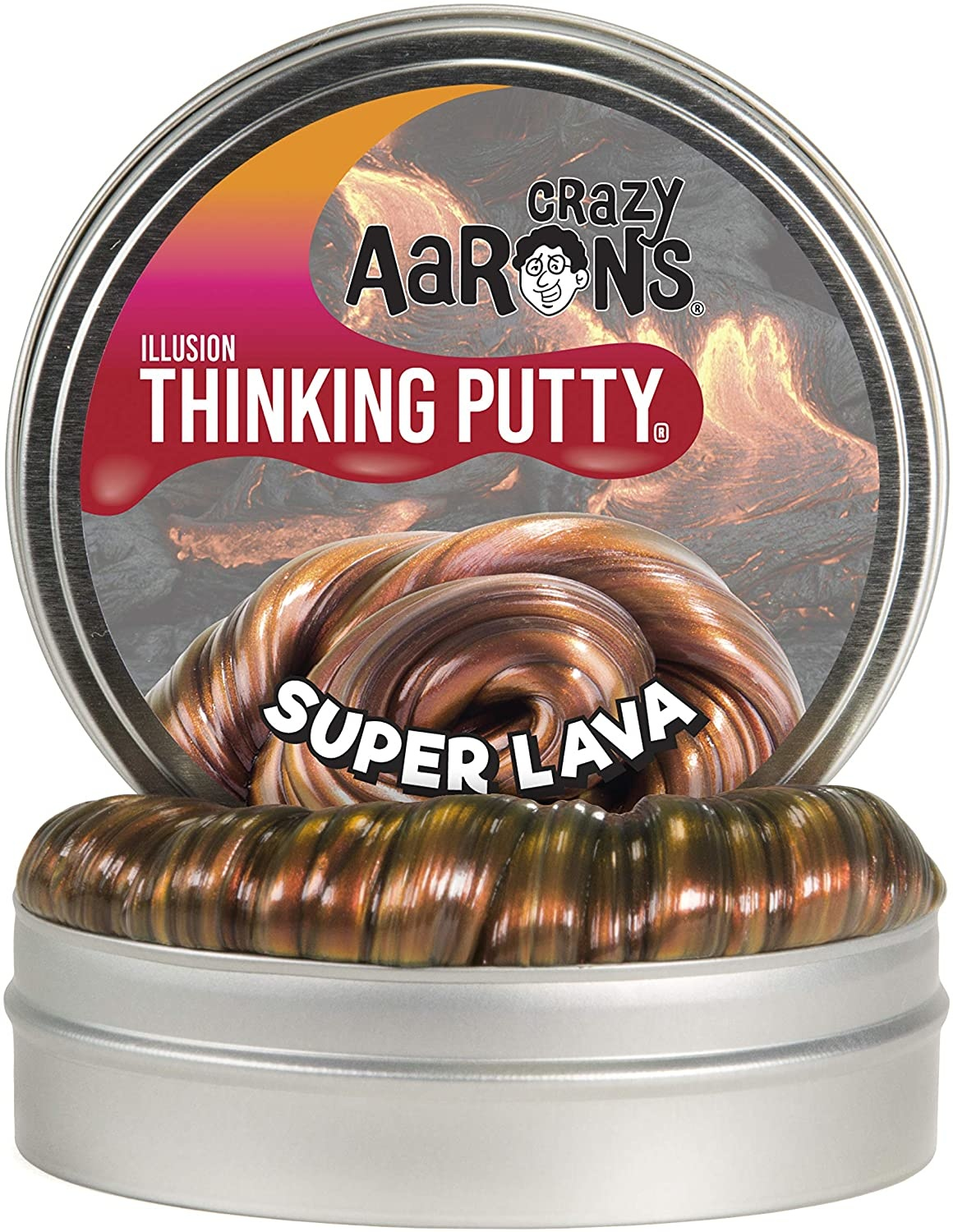 "Crazy Aaron's Thinking Putty 4"" - Super Lava"
