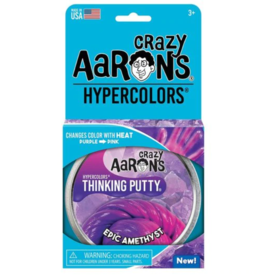 "Crazy Aaron's Thinking Putty - 4"" Tin - Hypercolors Epic Amethyst"