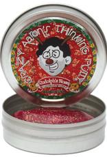 "Crazy Aaron's Thinking Putty Tin 2"" Mini - Rudolphs Nose"