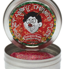 "Crazy Aaron's Thinking Putty Tin 2"" Mini - Rudolphs Nose"