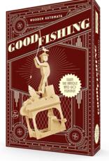 Clockwork Dreams Natural Wood Automaton Set - Good Fishing
