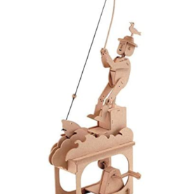 Clockwork Dreams Natural Wood Automaton Set - Good Fishing