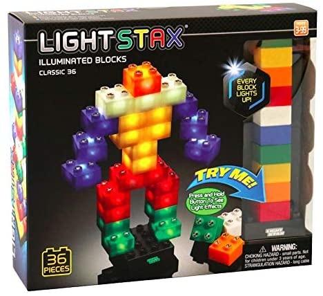 Light STAX Junior Classic Building Blocks - 36 Piece Set