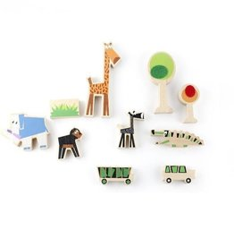 Wanderlust Wood & Felt Themed Playset - Safari