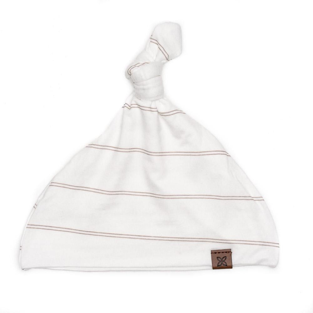 PapillonBebe Striped Fawn Baby Hat - 0-3m