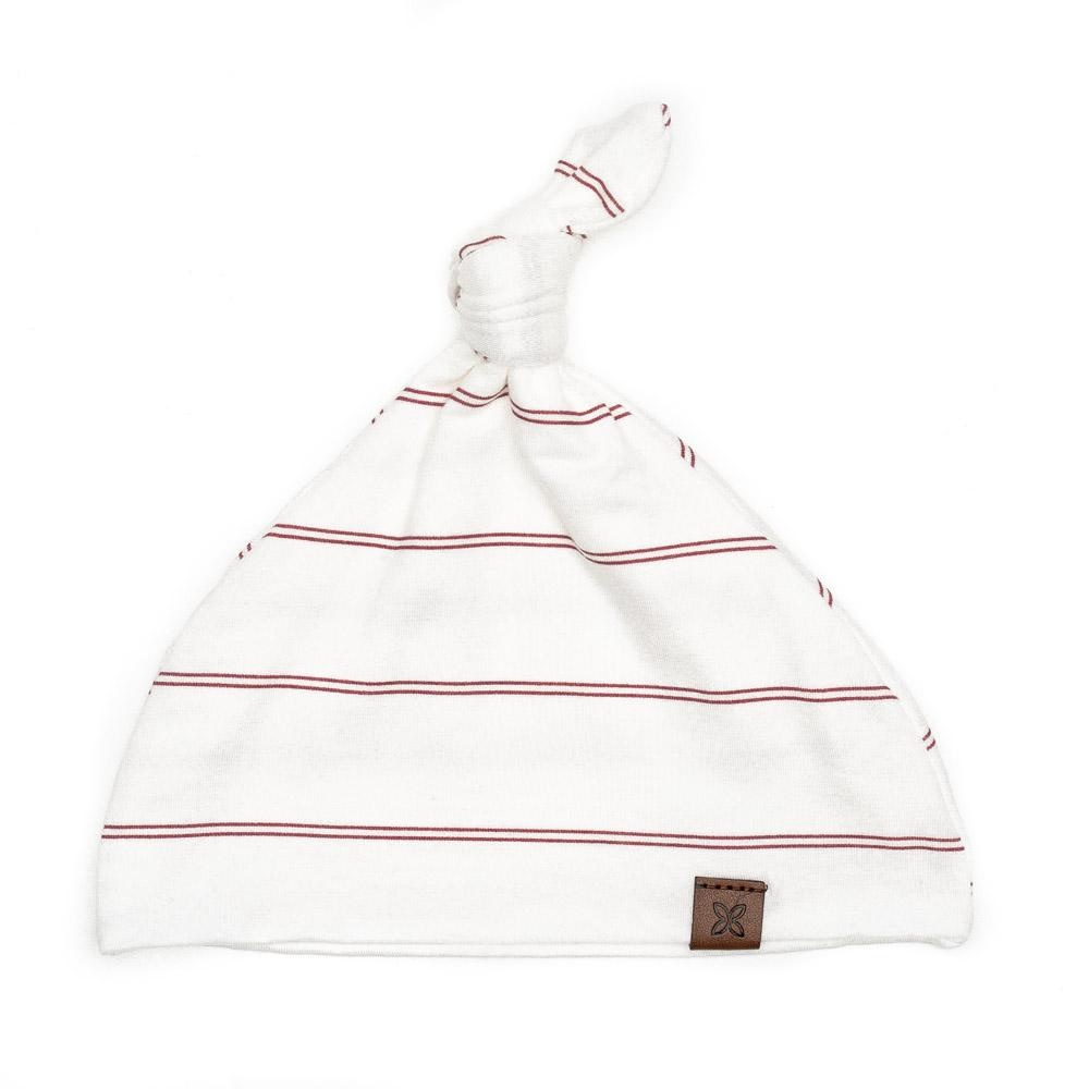 PapillonBebe Striped Rose Baby Hat - 0-3m