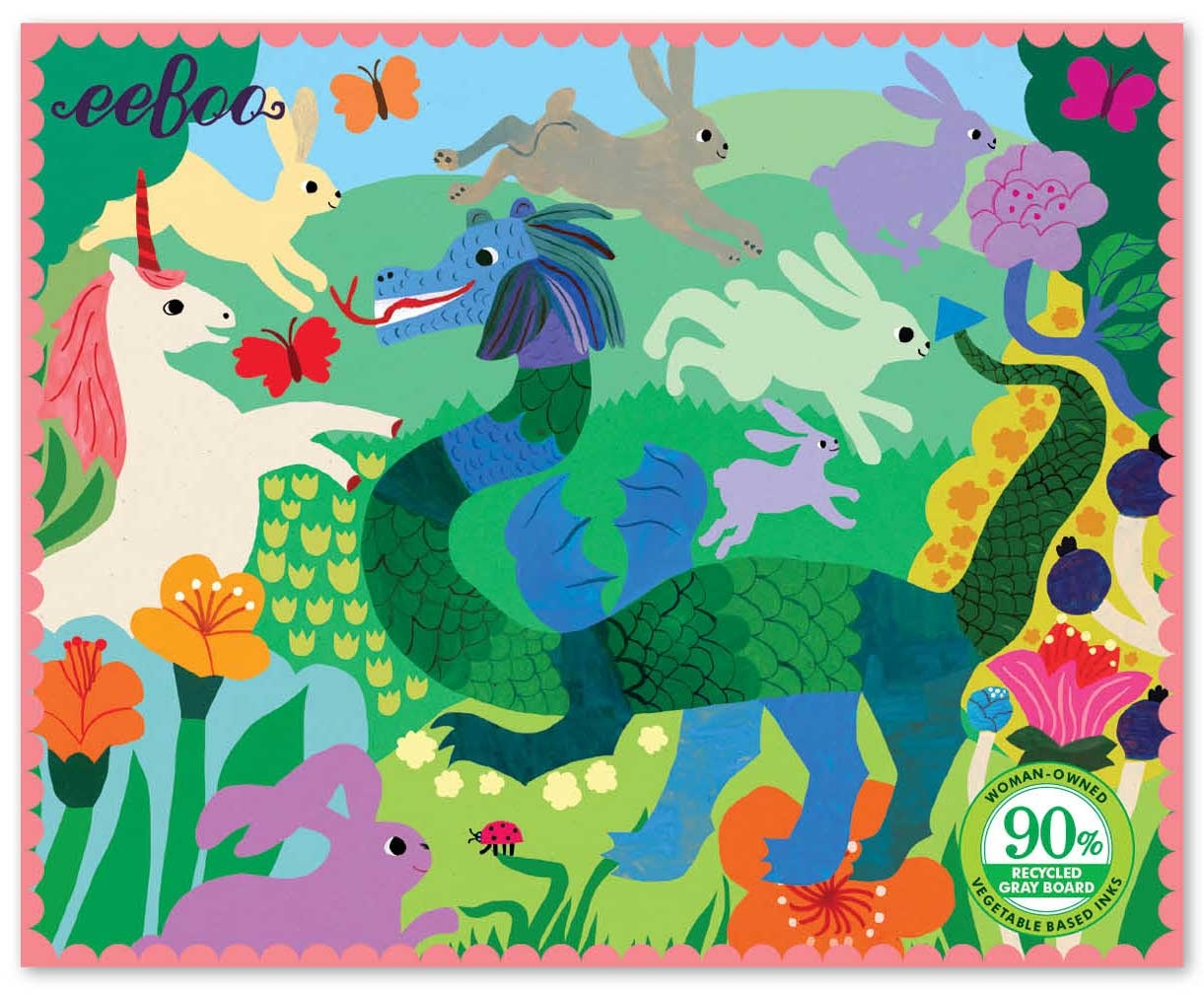 Unicorn and Dragon Miniature Puzzle - 36pc