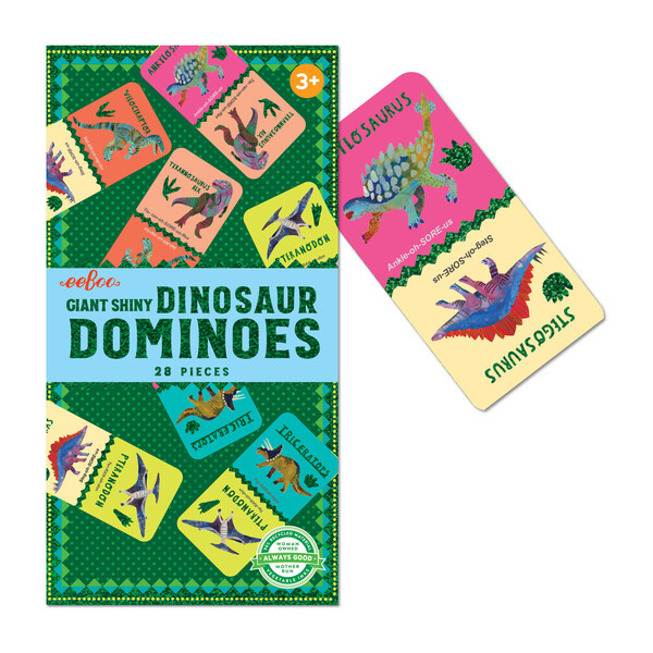Shiny Dinosaur Dominoes
