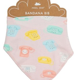 Angel Dear Bandana Bib - Retro Phones