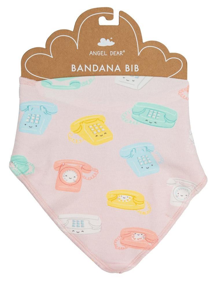 Angel Dear Bandana Bib - Retro Phones
