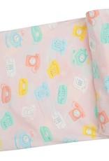 Angel Dear Swaddle Blanket - Retro Phones