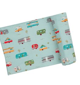 Angel Dear Swaddle Blanket - Campers Green