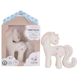Tikiri Cotton Candy Unicorn - Rattle & Crinkle Toy