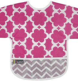 Kushies Baby Kushies - Sleeved CleanBib - Flowers 6-12m