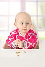 Kushies Baby Kushies - Sleeved CleanBib - Flowers 6-12m