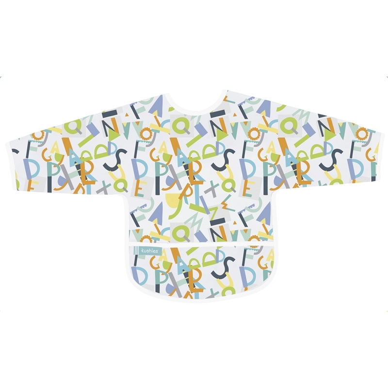 Kushies Baby Kushies - Sleeved CleanBib - Alphabet 6-12m