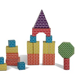 Edushape Corrugated Block Shapes - 45 pc