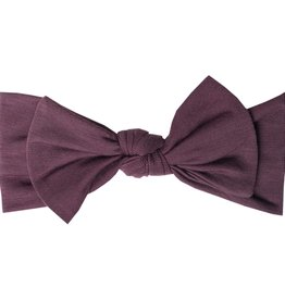 Copper Pearl Copper Pearl - Knit Headband Bow - Plum