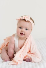 Copper Pearl Copper Pearl - Knit Swaddle Blanket - Blush