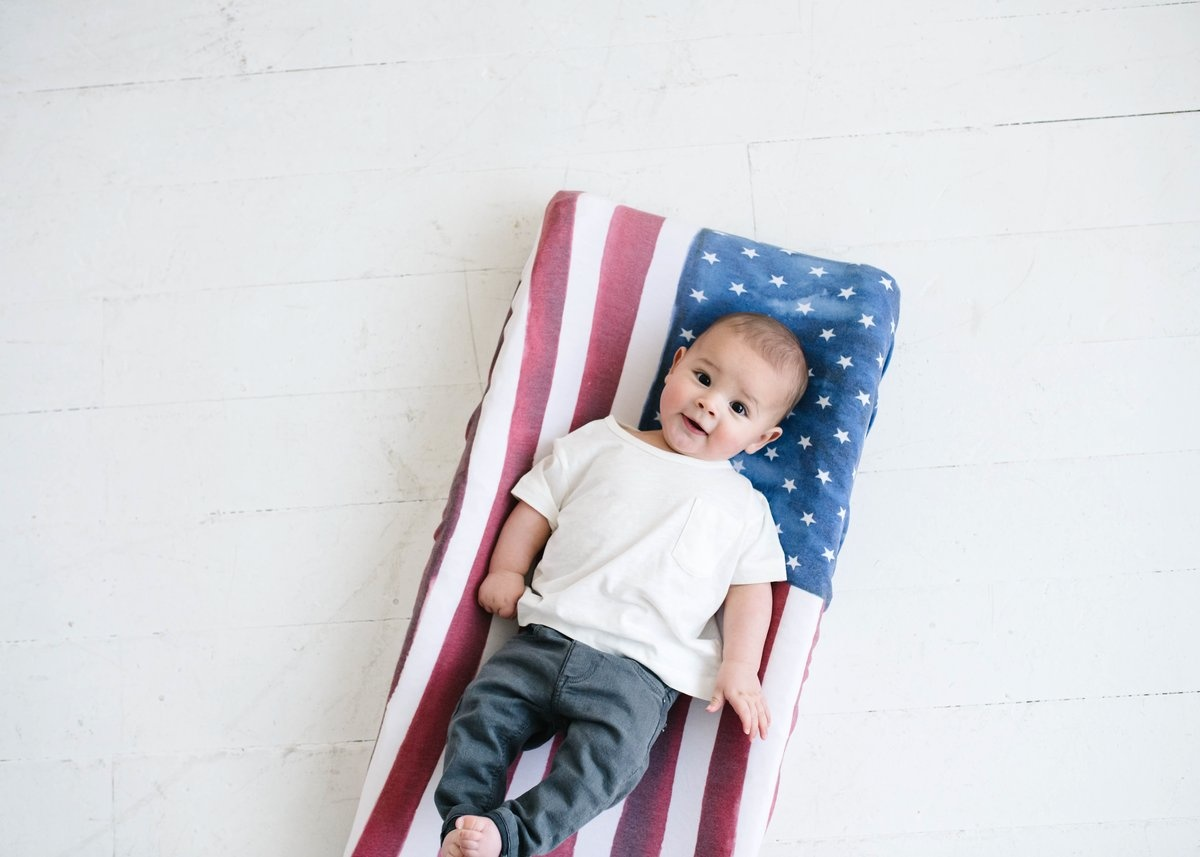 Copper Pearl Copper Pearl - Changing Pad Cover - Patriot