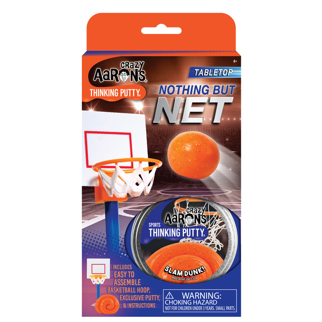 """Crazy Aaron's Thinking Putty Tin 2.75"""" Nothing But Net - Sports Putty"""